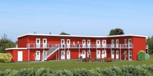 Mit Nordseeblick - der neue Erweiterungsbau der Jugendherberge Schillighörn steht direkt hinter dem Deich.