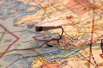 Segelflieger Landkarte