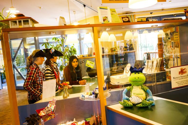Kioskverkauf in der Jugendherberge Alfsee